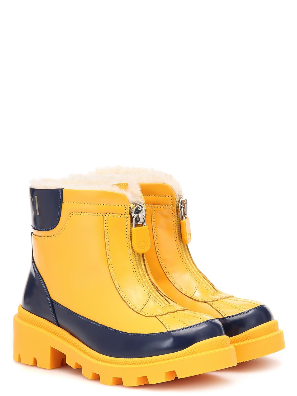 GUCCI boots yellow for girls| NICKIS.com