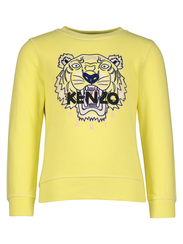 Kenzo sudadera Tiger para nias, amarillo, 4 aos (104 cm)