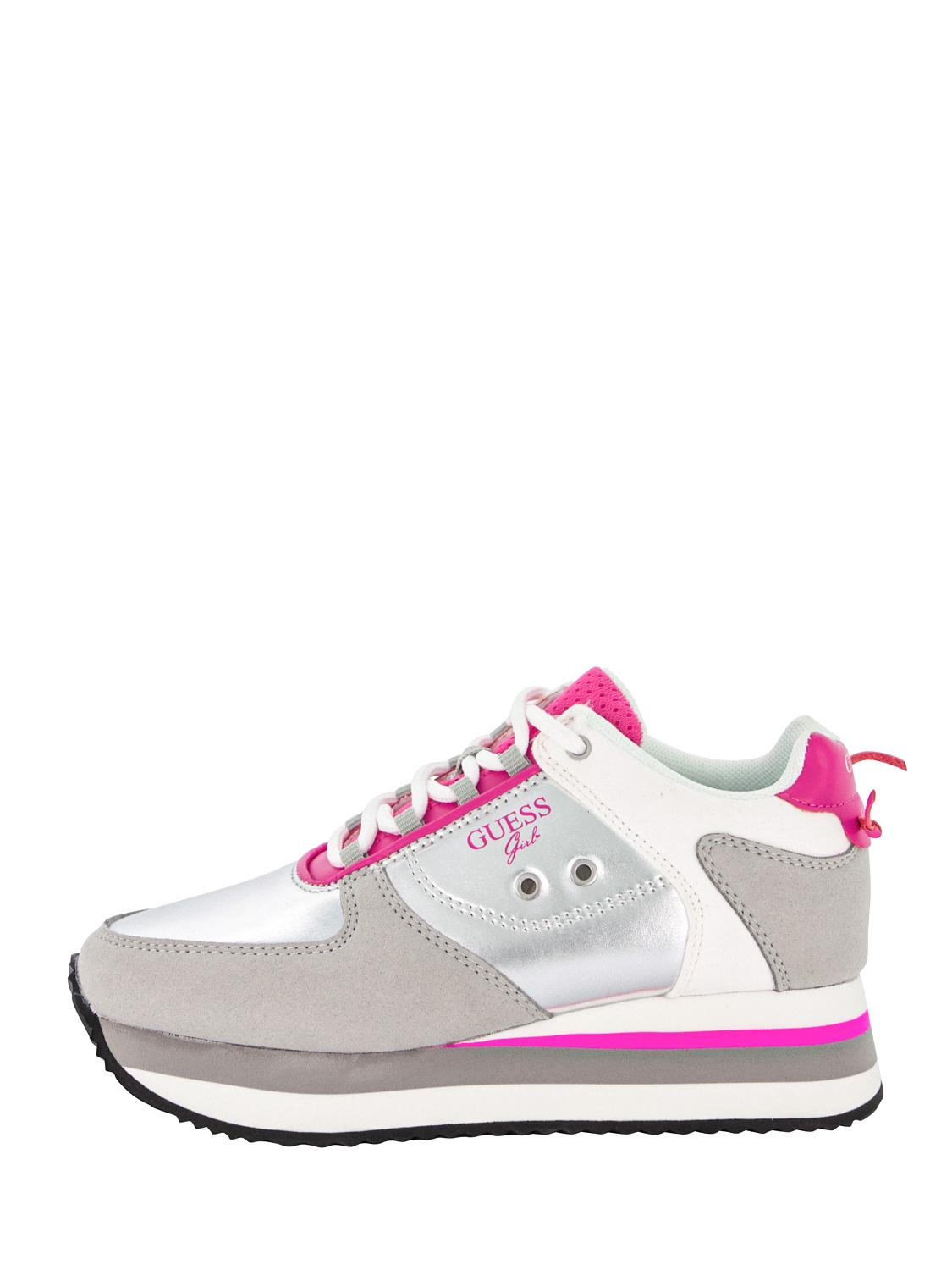 GUESS sneakers LILY silver for girls