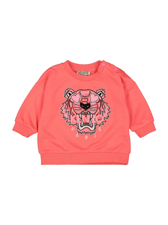 Kenzo sudadera Tiger para nias, rosa, 6 meses (68 cm)