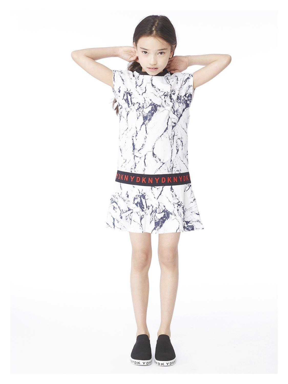 DKNY Kleid grau für Mädchen| NICKIS.com
