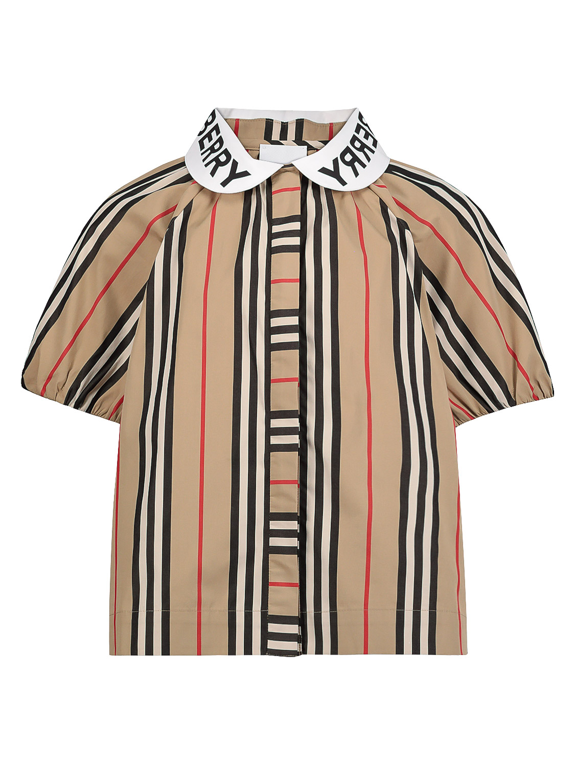 Burberry Kids Blouse For Girls In Beige