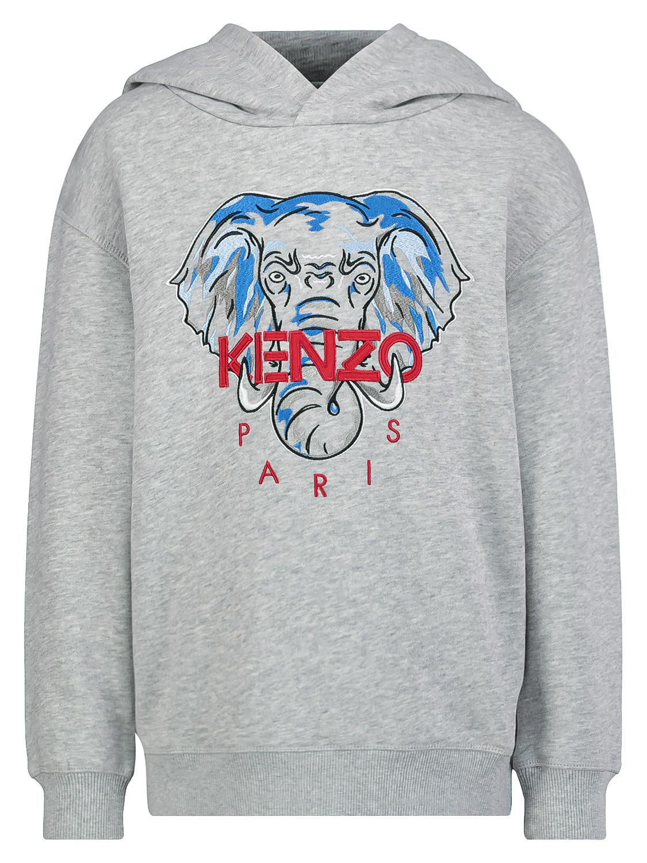Kenzo sudadera con capucha KIP para nios, gris, 6 aos (116 cm)
