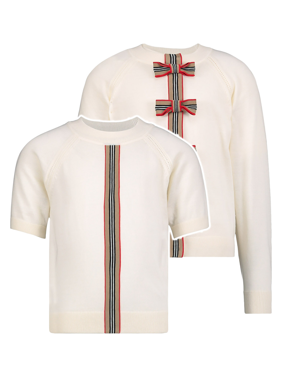Burberry Kids Clothing Set For Girls In White