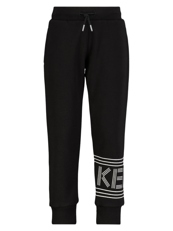 Kenzo pantalones de chndal LOGO para nios, negro, 6 aos (116 cm)