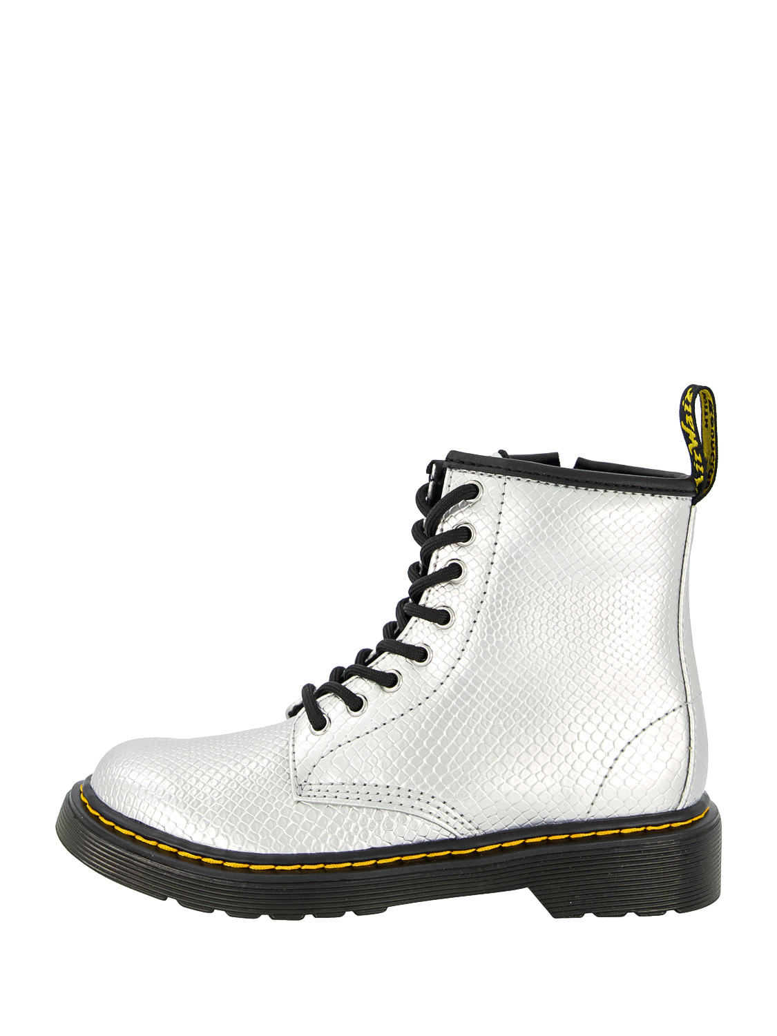 Dr. Martens KIDS BOOTS 1460 J SILVER REPTILE EMBOSS FOR GIRLS