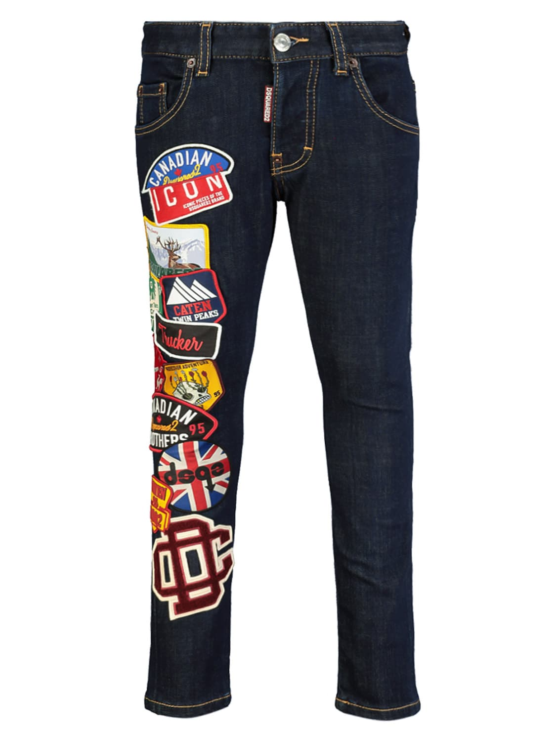 Dsquared2 Kids Jeans For Boys In Blue