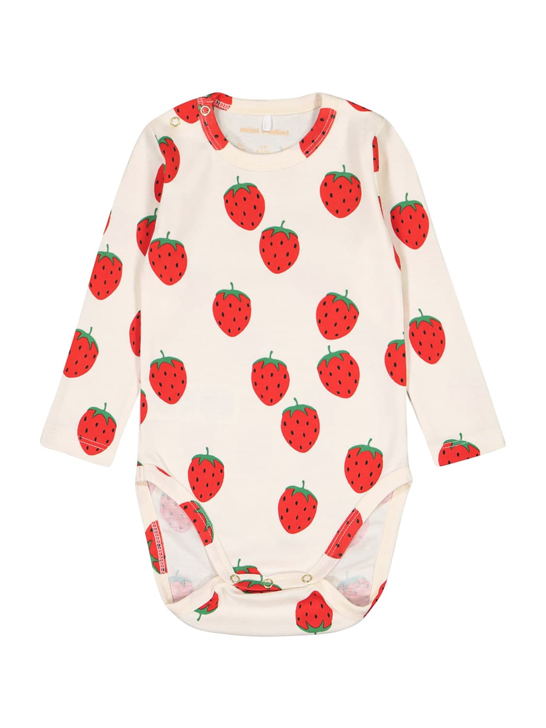 Mini Rodini Cottons KIDS BODY STRAWBERRY AOP LS FOR FOR BOYS AND FOR...