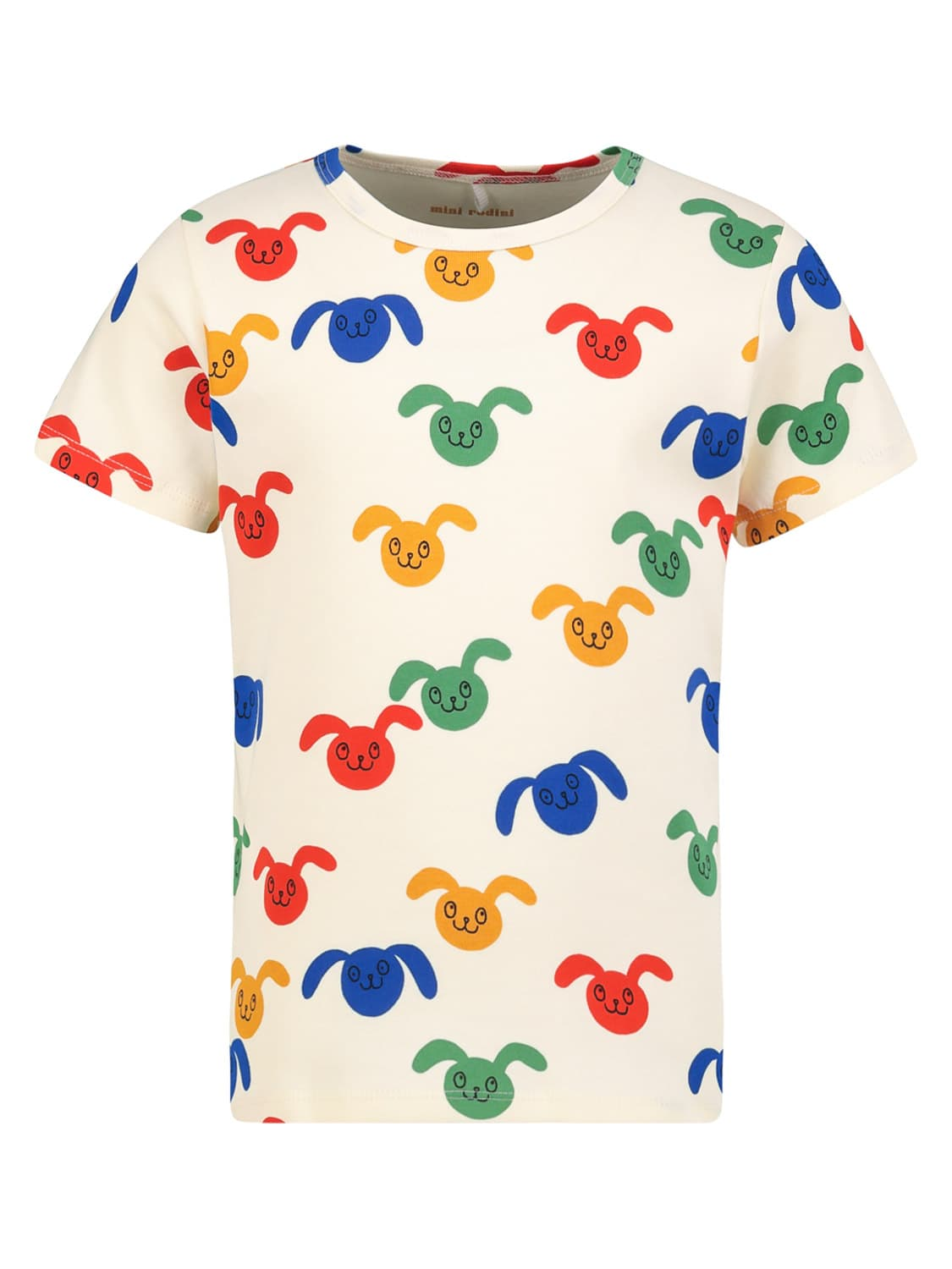 Mini Rodini KIDS T-SHIRT RABBITS AOP SS TEE FOR FOR BOYS AND FOR...
