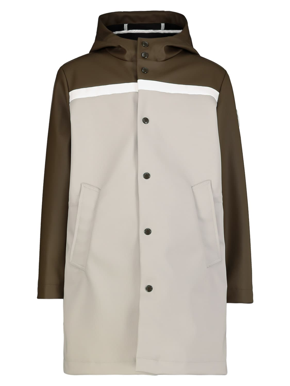 Moncler Clothing KIDS RAINCOAT BAREN LONG PARKA FOR BOYS