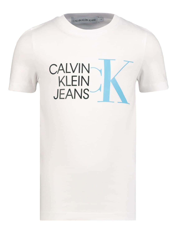 Calvin Klein KIDS T-SHIRT HYBRID LOGO FITTED T-SHIRT FOR BOYS