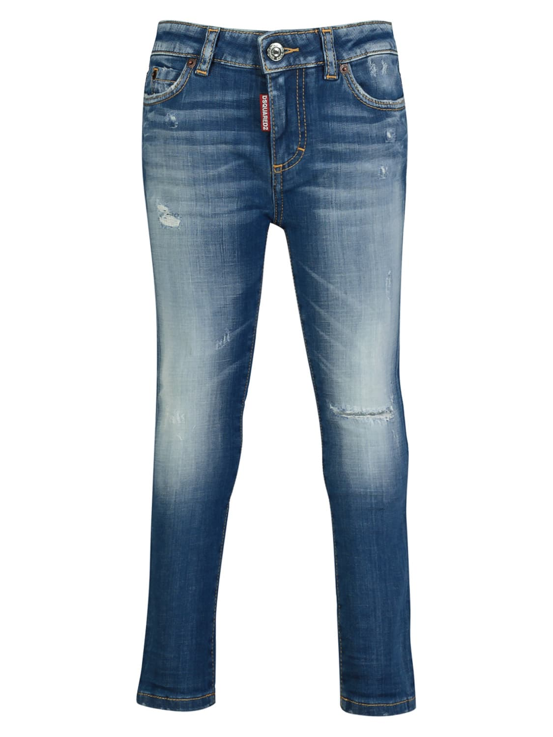 Dsquared2 Kids Jeans For Girls In Blue