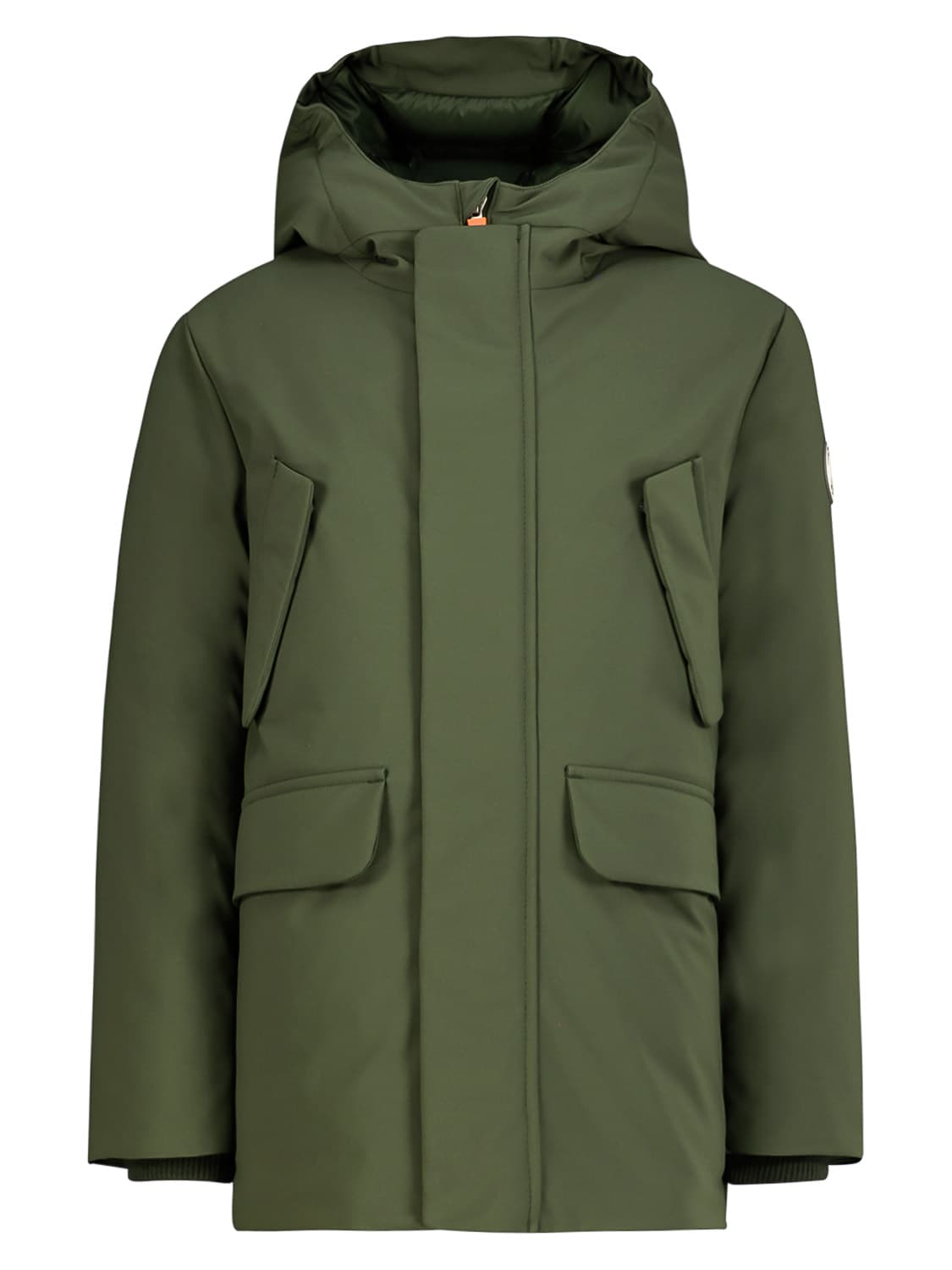 Save The Duck Kids Winter Jacket For Boys In Green