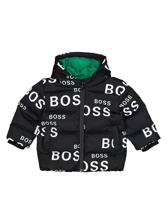 Hugo Boss Babies' Boss Black Logo Puffer Jacket